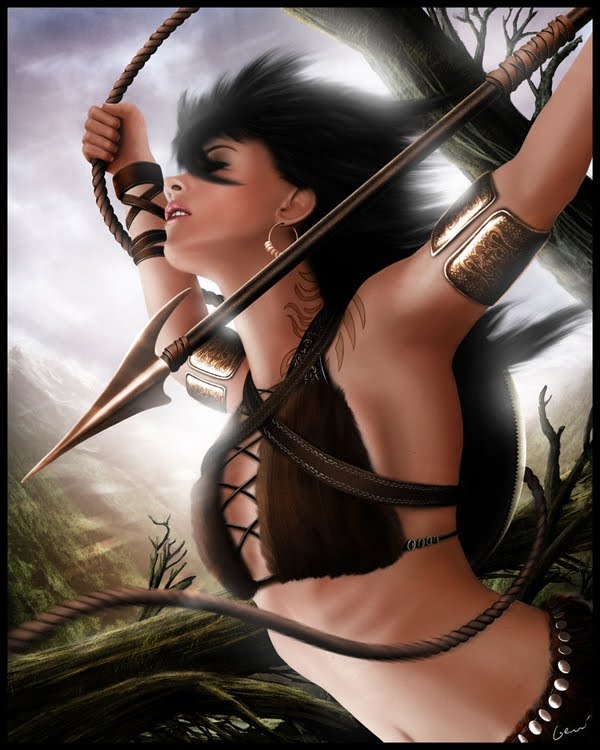 the hunter woman warrior