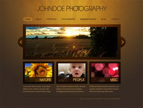 Create an Elegant Photography Web Layout