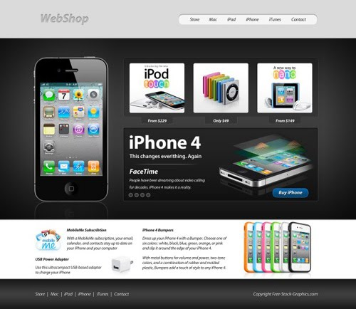 Tutorial on how to create an apple inpired web layout