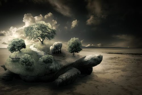 Photoshop Tutorial: Create a Surreal Turtle Image