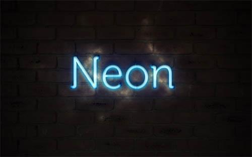 Photoshopping Neon Text