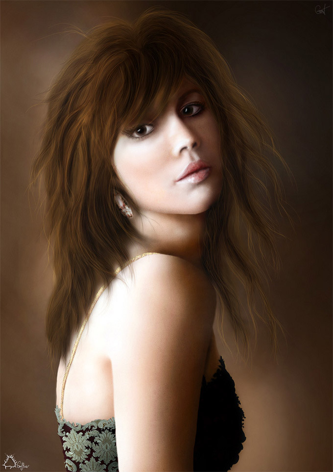 Beautiful Sexy Women Digital Painting