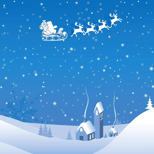 Santa Claus Silhouette wallpapers