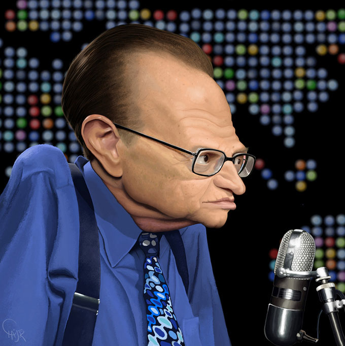 larryking12 25 Hilarious Digital Caricatures Of Famous People