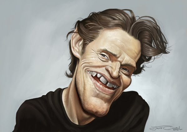 DAFOE FINISHED small5 25 Hilarious Digital Caricatures Of Famous People
