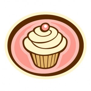 Logo Design Chocolate on Red Velvet Cupcake With Cream Cheese Frosting Mint Chocolate Chip
