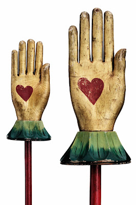 Circa 1880s Heart in Hand Odd Fellows Staffs- Anonymous Works