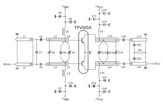 TV RF Power Amplifier 14W pcb 1