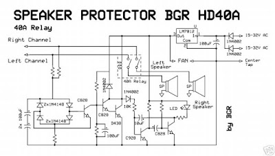 TURN - ON DELAY & LOUDSPEAKER PROTECTION circuit