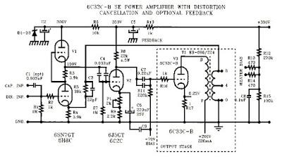 tube amplifier 6c33 cb se borely circuit