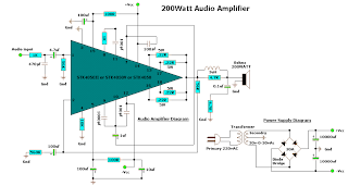 Diagram 200 WATT AUDIO AMPLIFIER