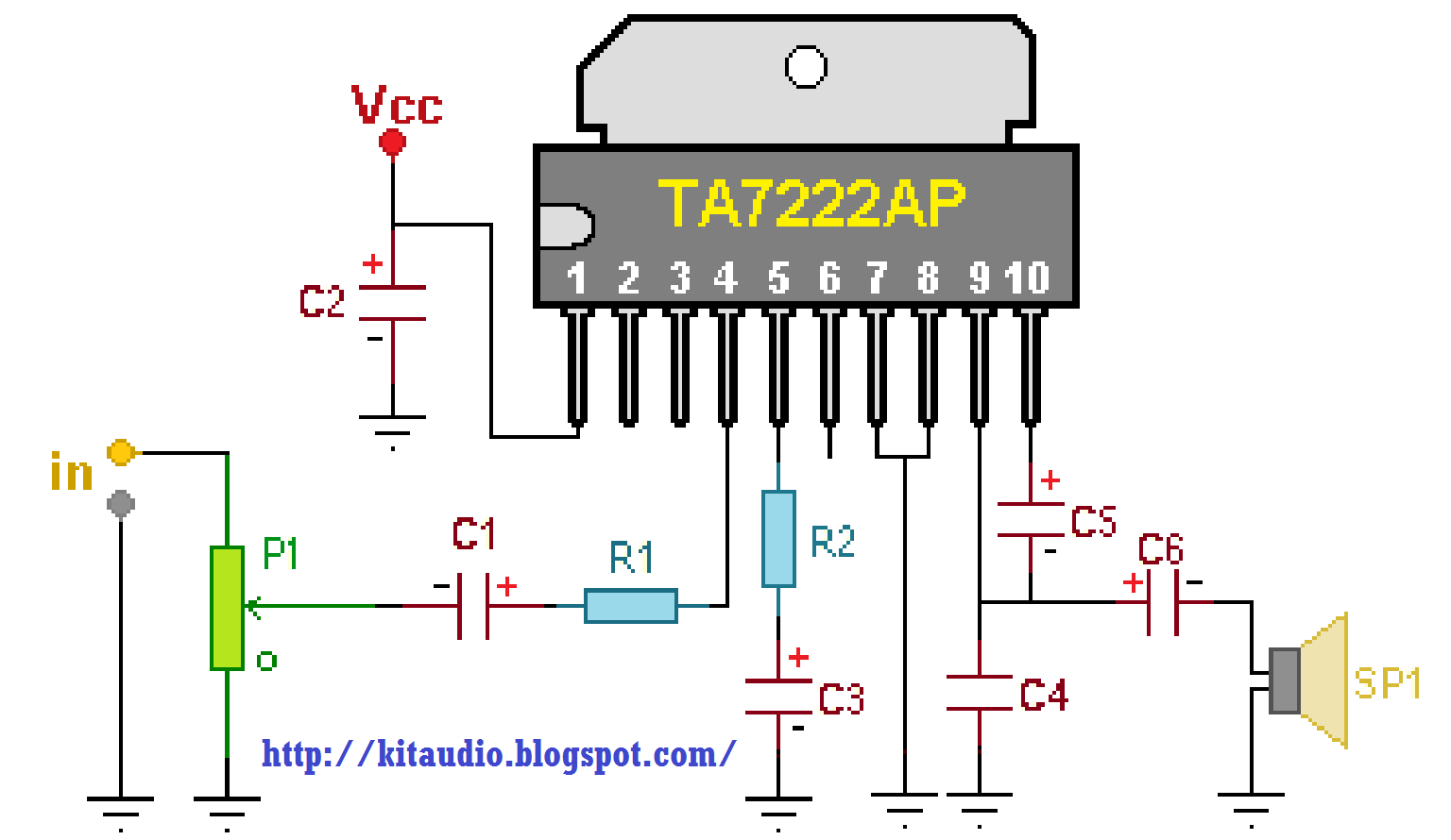 Small 6watt Power Amplifier Wiring And Diagram Pre Circuit Switch Variationelectrical Online