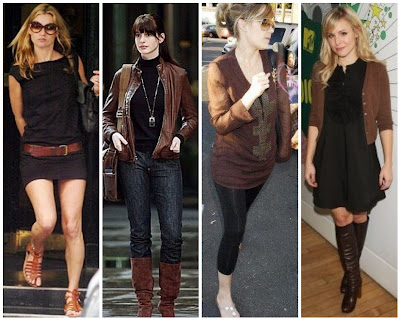 Brown Dress What Colour Accessories Browndress Blackshoes