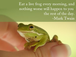 Eat a frog first thing in the morning