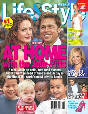 Em casa com a família Jolie-Pitt