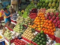 Mercado de frutas no Vietnã