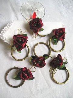 porta guardanapos flor de cetim