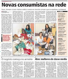 O European Brechó saiu numa reportagem no Jornal Extra - Globo
