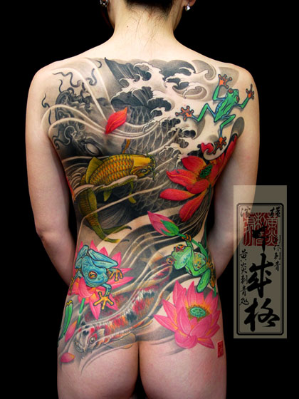 Koi Dragon Arm Sleeve – Kinxi Tattoo Patterns Labels: tattoo sleeve dragon