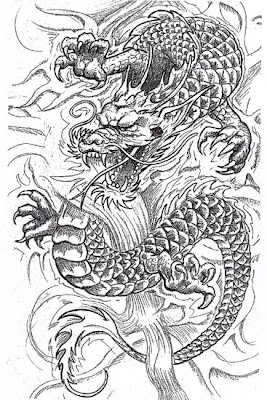 Dragon Tattoo Design from Tattoo Software