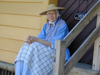 Old Salem employee in period clothing