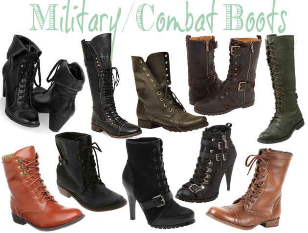 Combat Boots Trend - Military Style Trend | O So Chic Blog