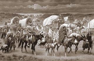 Caravana en el oeste