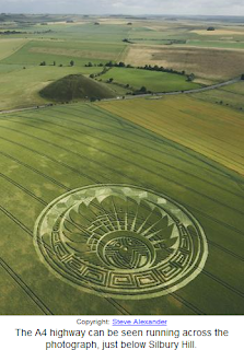 Policeman chases 3 Tall beings near crop circle Silbury Hill, Wiltshire, England 7th July,2009 Crop+circle
