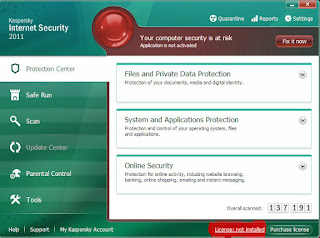 Tips mengaktifkan kaspersky Antivirus dan Internet Security