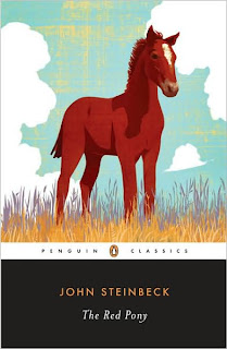 Book Cover Art for The Red Pony by John Steinbeck