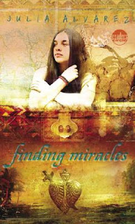 Book Cover Art for Finding Miracles by Julia Alvarez