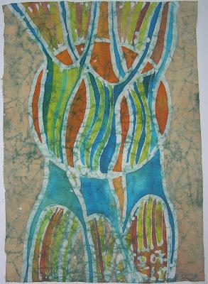 zorica, đuranić, batik, canvas, art, paintings, trees