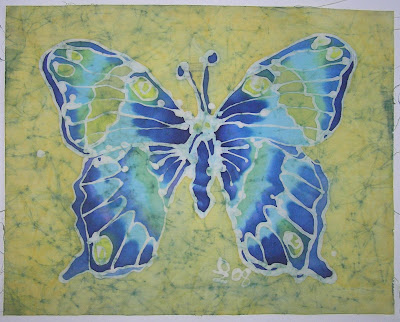 zorica, đuranić, batik, paintings, canvas, art, butterfly