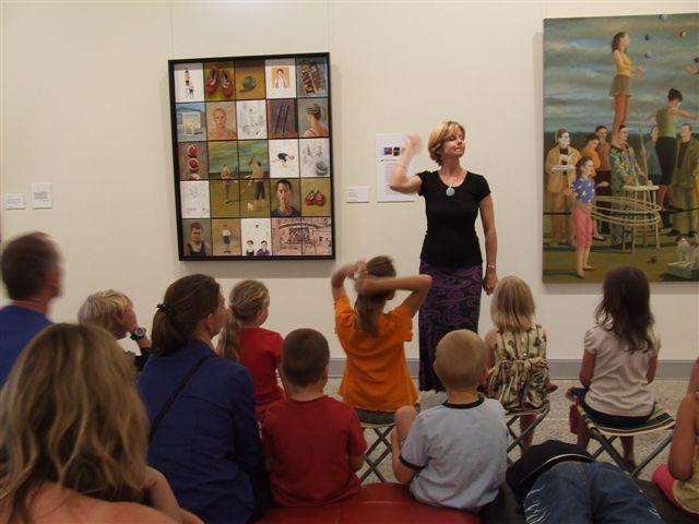 Jenni tells tales in the Tweed Art Gallery
