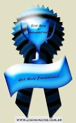 Este blog foi premiado com mais um selo de reconhecimento pelos trabalhos prestados à Web.