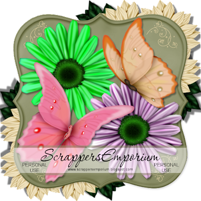 http://scrappersemporium.blogspot.com/2009/05/daisies-and-butterflies-freebie.html