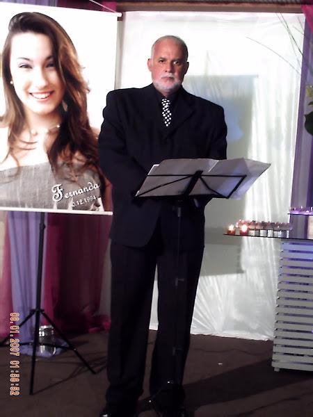 Mestre de Cerimonias em locução no Clube de Regatas Guanabara em 12/12/2009