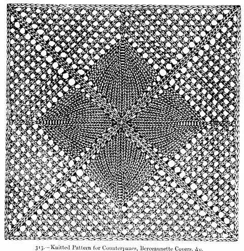Vintage Leaf Knitting Pattern : Needlework inspiration: Knitted leaf & lace squares: some ...