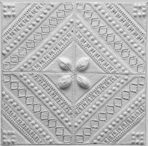 Knitted Squares Pattern : Needlework inspiration: Knitted leaf & lace squares: some on-line patterns