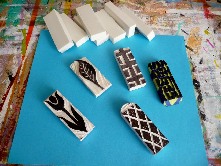 Jkbees the color of happy carving eraser stamps