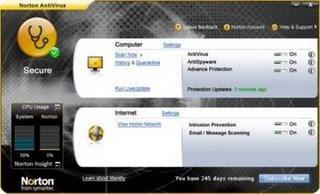 Norton AntiVirus 2009 16.0.0.125