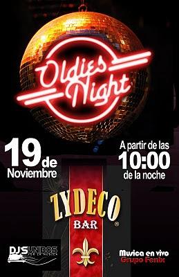 Este viernes 19 de noviembre oldies night en zydeco bar con la