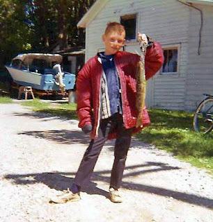 Young Fisherman at Birch Lodge Trout Lake MI