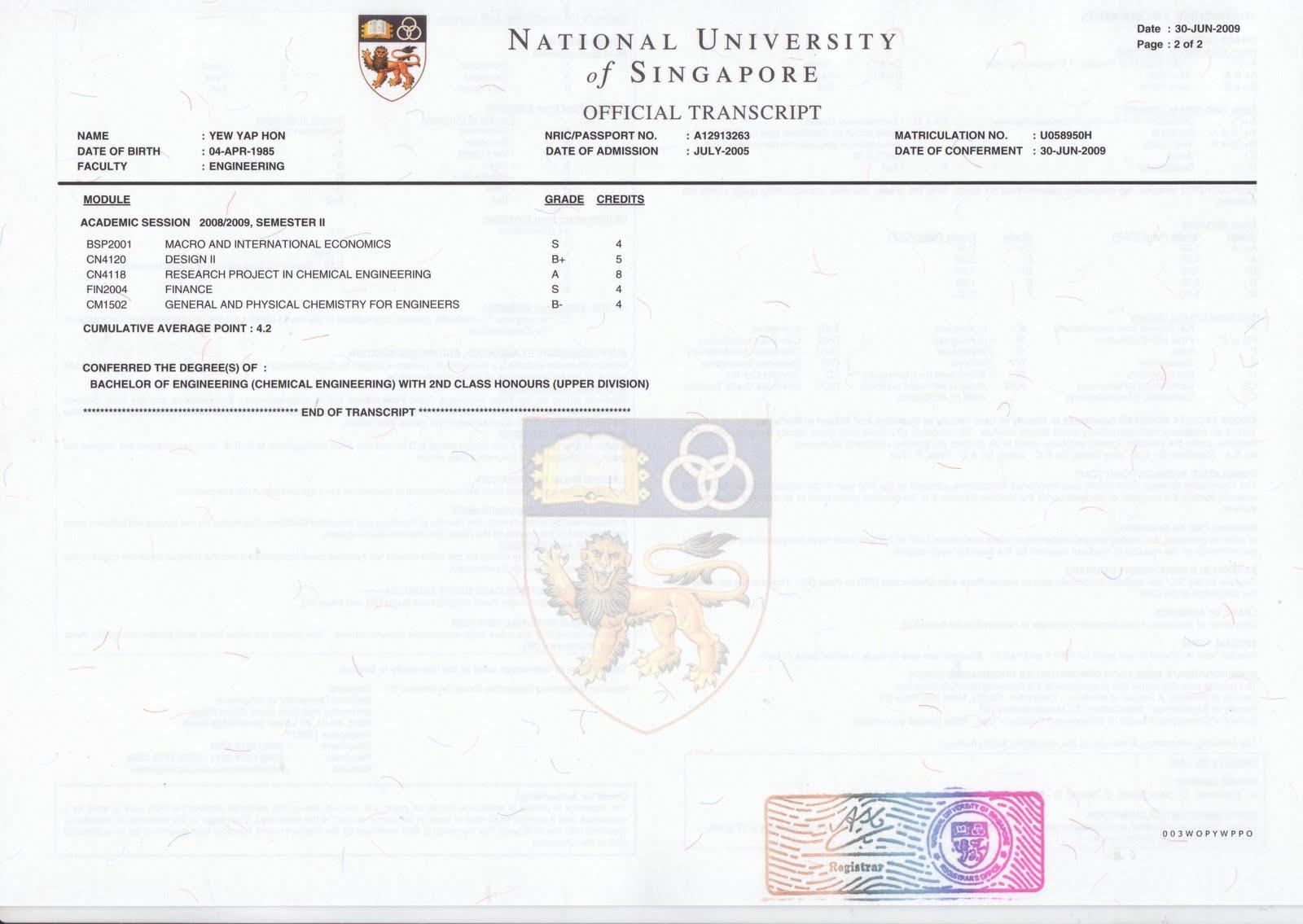 singaporetutors degree and transcripts degree and transcripts