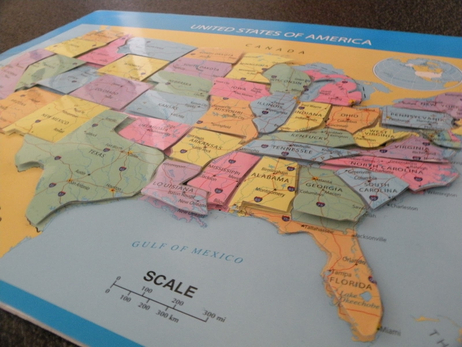 Toddler Approved 50 Nifty United Sates Map Puzzle
