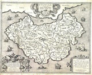 Mapa da ilha imaginária de Thomas More