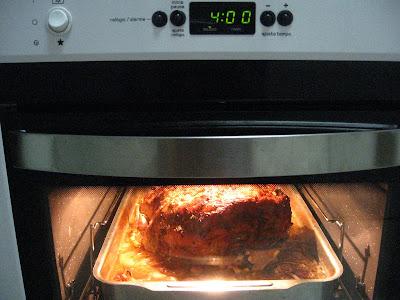 pernil assando no forno, 4h