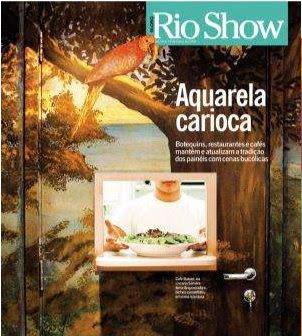 capa da revista RIOSHOW, encartada em O GLOBO, de 14 de março de 2008