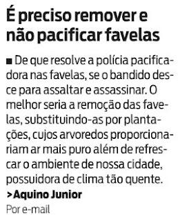 carta publicada no jornal O DIA de 06 de janeiro de 2010