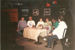 Eduardo Goldenberg, Walter Alfaiate, Alexandre Alvim, Vera Mello, Nélson Sargento e Renato Alvim, Mistura Fina, Lagoa, Rio de Janeiro, RJ, 1992